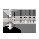 Werkstückhhalterung Glaskeramik- und Hybridblöcke (12-fach) - Ceramill Motion 2