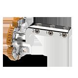 Werkstückhalterung 3-fach Schleifen (AG-Mandrell) - Ceramill Mikro IC